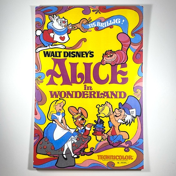 Reproduction of vintage Alice in Wonderland poster